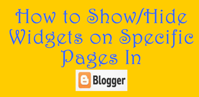 Show hide widgets in blogger