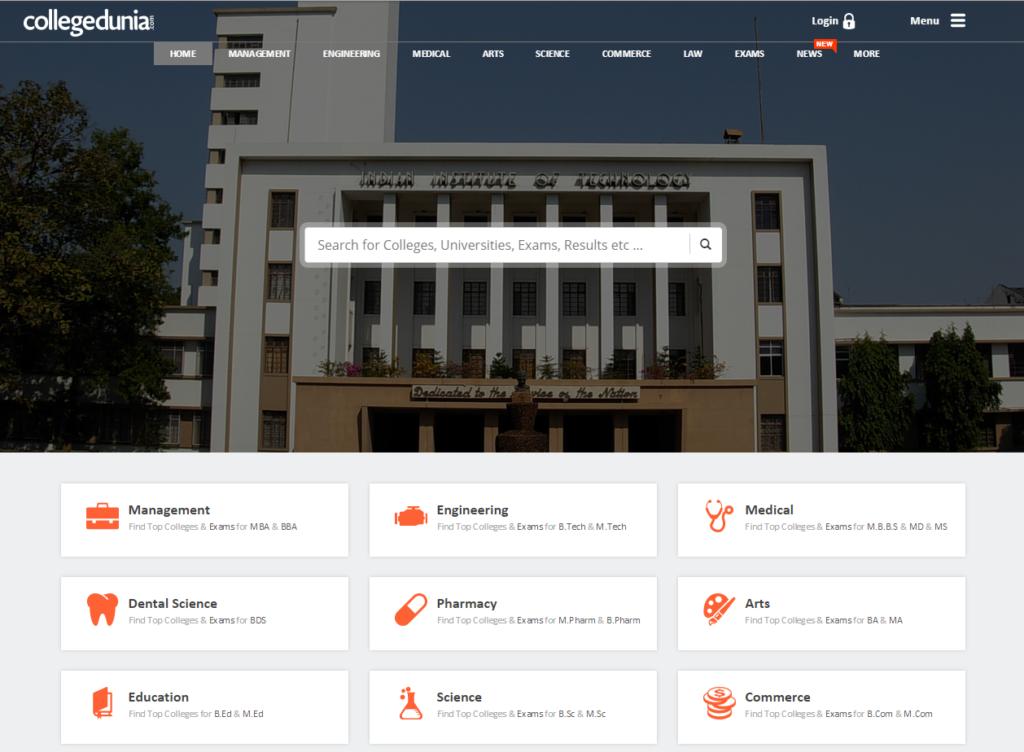 College Dunia Website