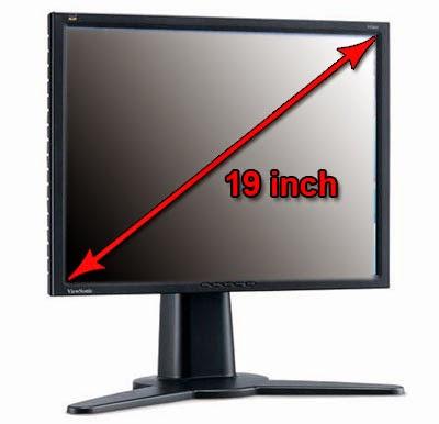 Monitor LCD diagonal