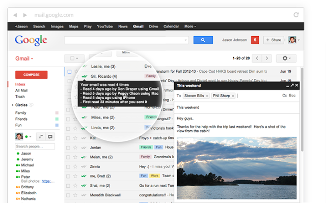 Read Receipts in Mail Track