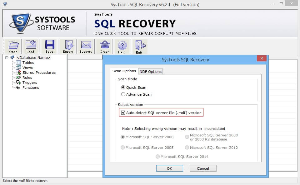 Auto detects Server Edition