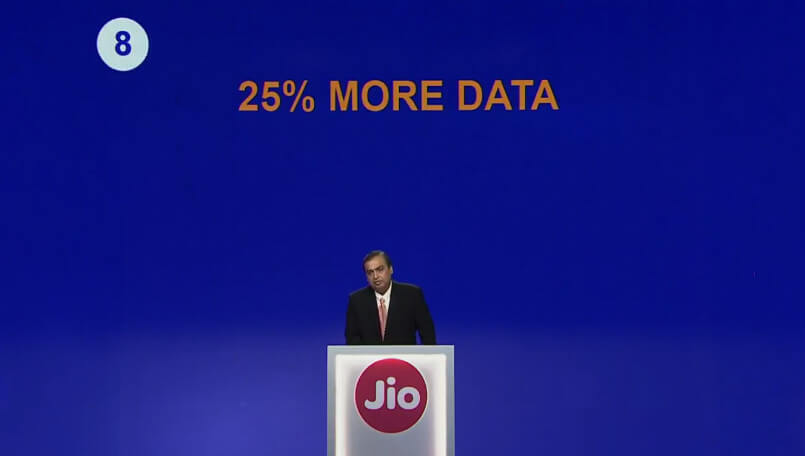 Jio Student Offer will get 25% more data