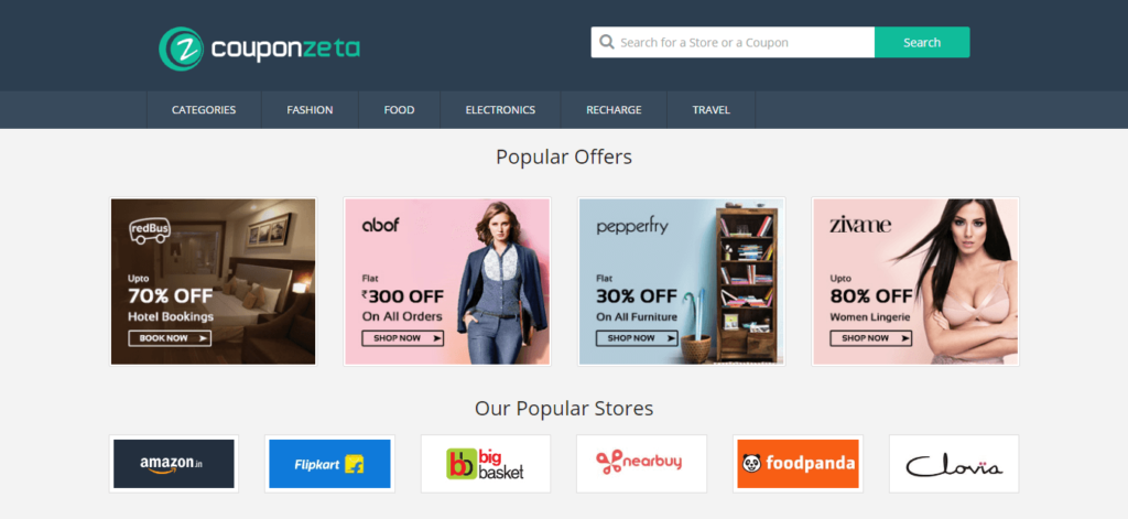 CouponZeta Homepage