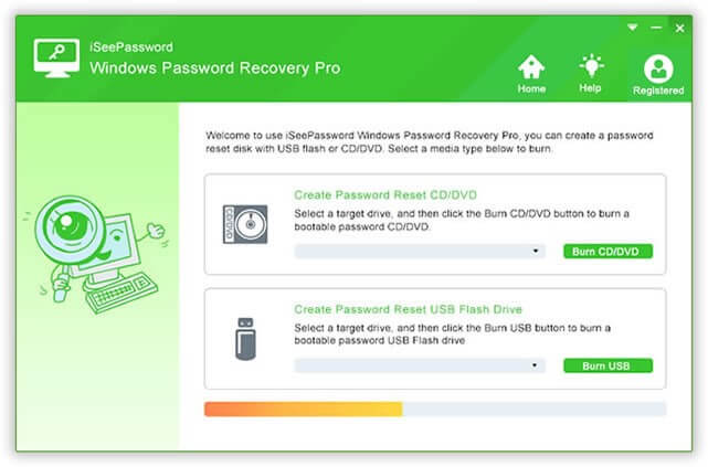Creating Password Recovery using iSeePassword