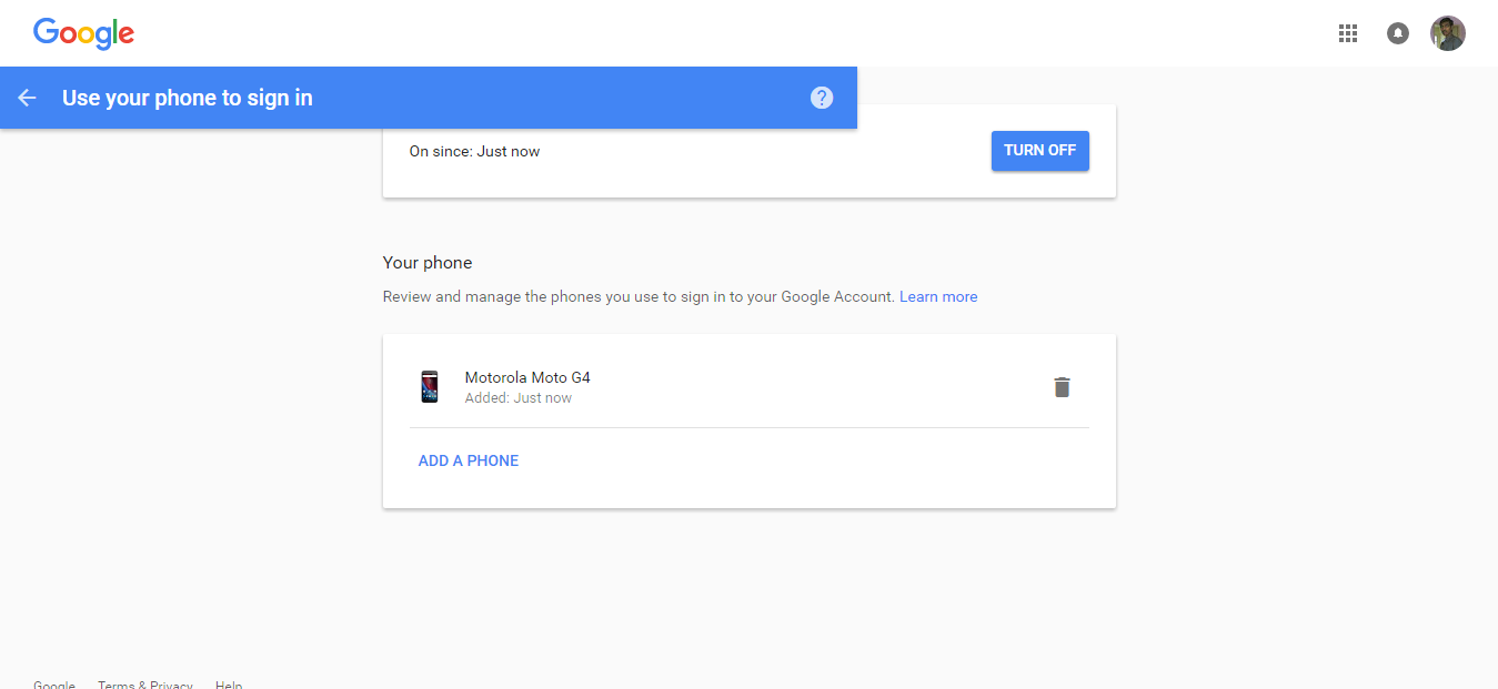 Devices Associated with the Google account