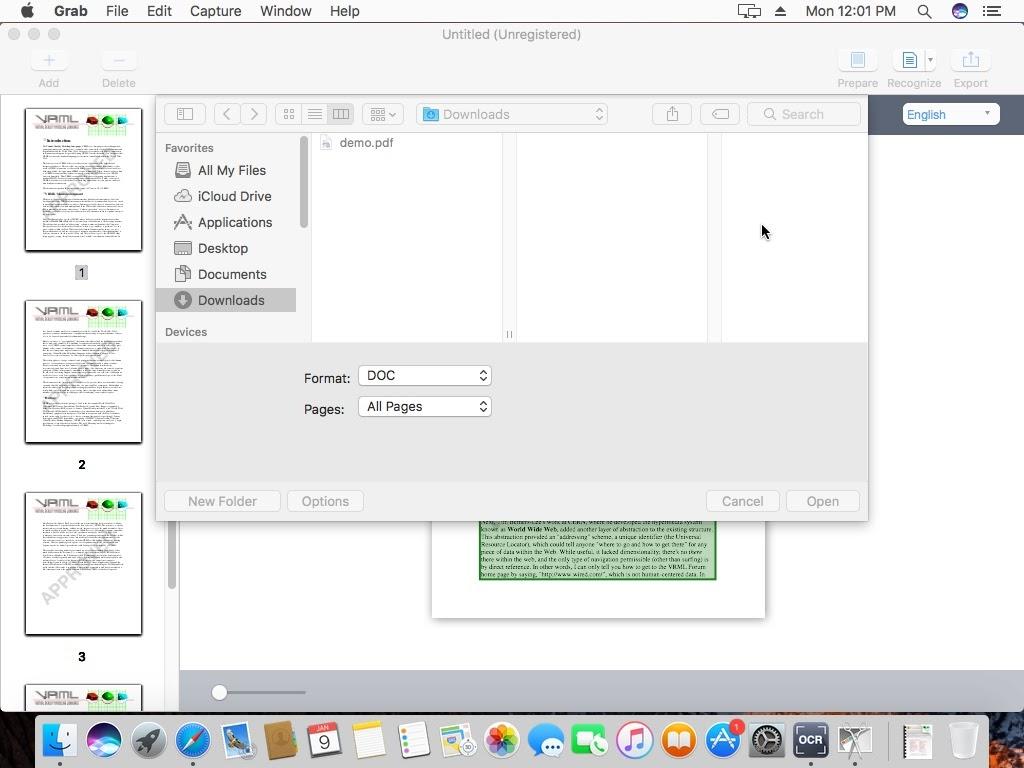 Cisdem OCRWizard 4 export to document file
