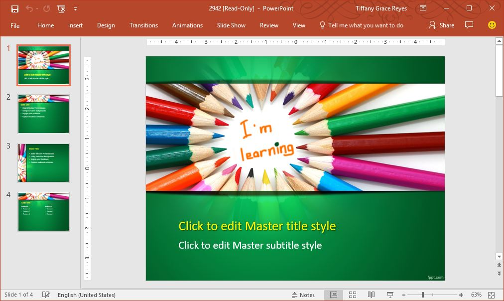 colorful learning education powerpoint template