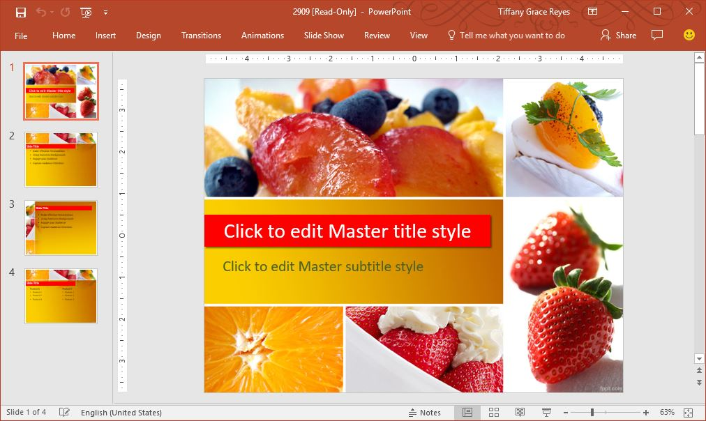 fruits berries powerpoint template