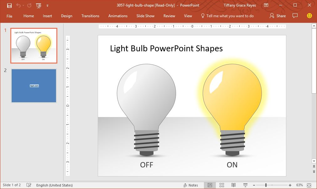 light bulb powerpoint shapes template