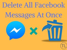 Delete All Facebook Messages At Once