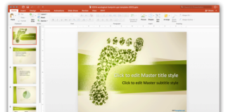 Foot background ppt template