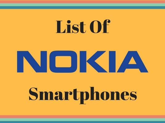 List Of Nokia smartphones