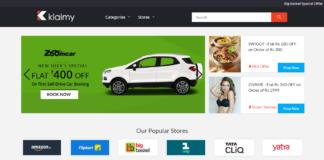Klaimy Homepage