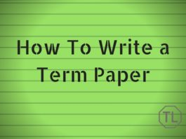 How To Write a Term Paper