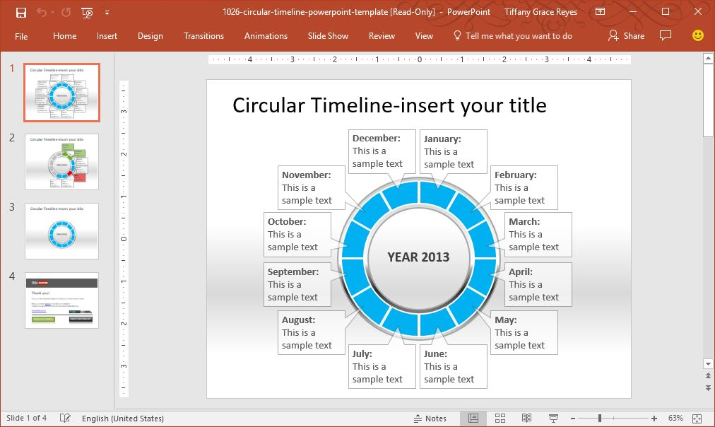 Create high impact project presentations with slidehunter circular timeline powerpoint template toneelgroepblik Gallery