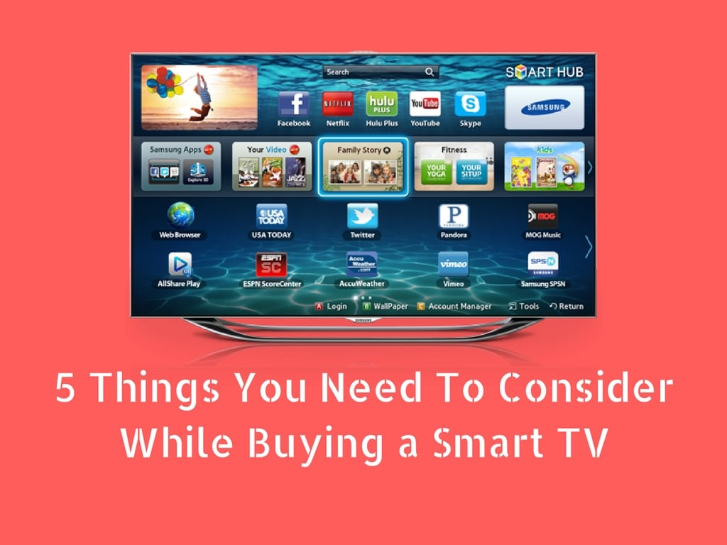 5 Things You Need To Consider While Buying a Smart TV