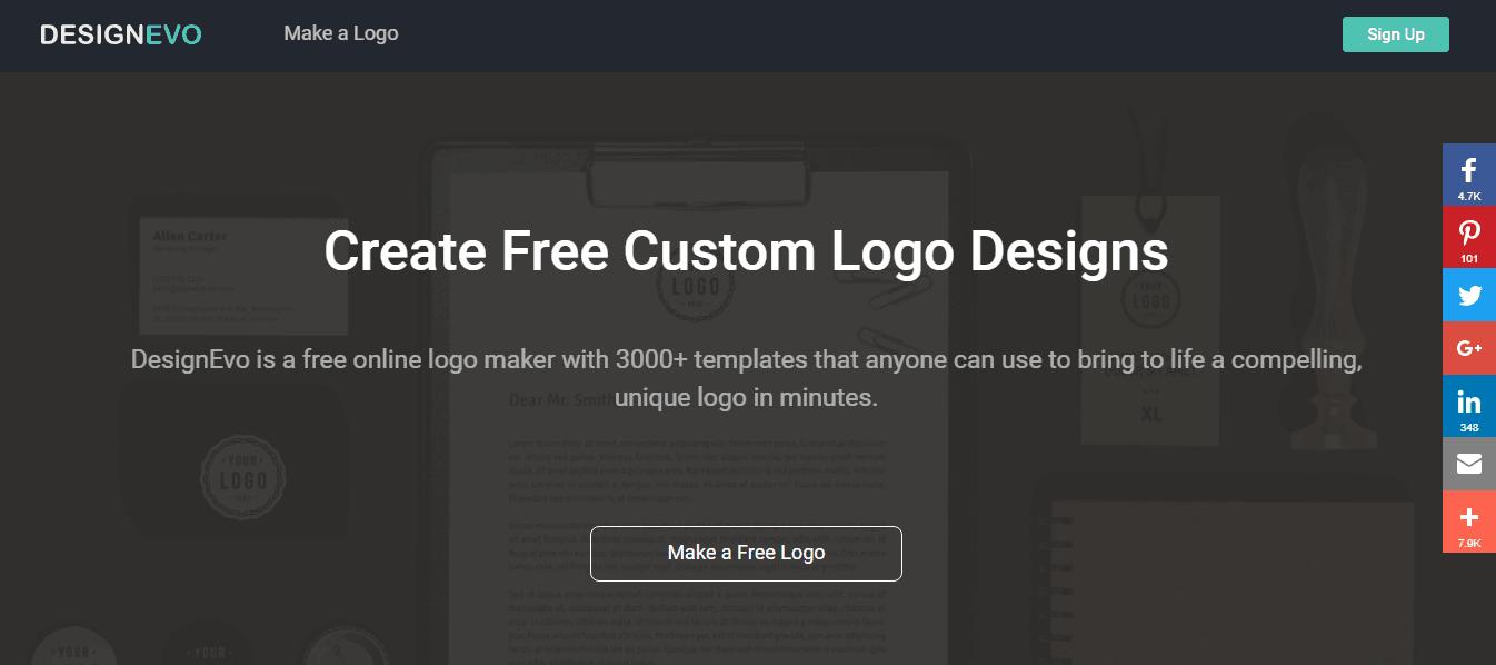 Designevo homepage