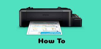 Resetter Epson L120 Printer