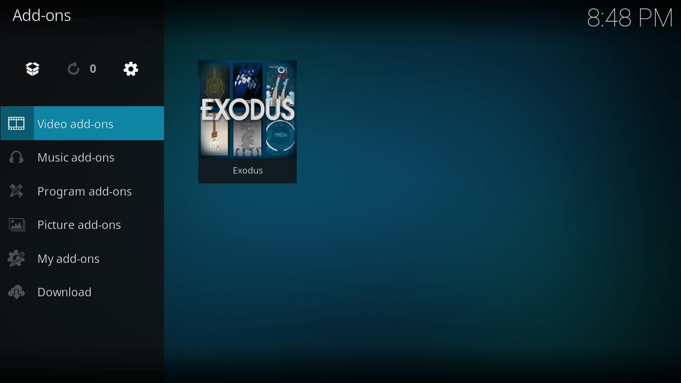 Video add-ons in Kodi