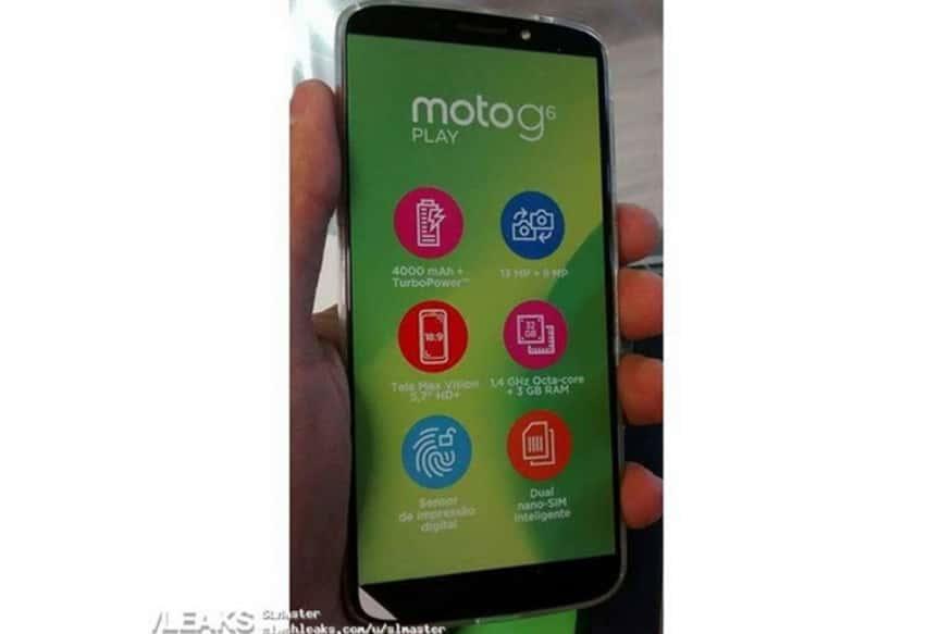 Moto G6 Play leaked image