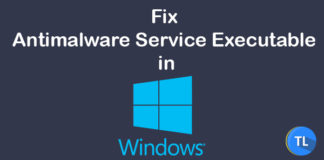 fix antimalware service executable