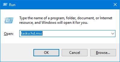 taskschd.msc in windows run tool