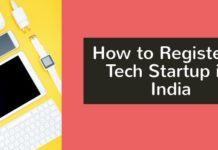 how to register a tech startup in India