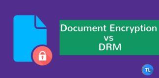 Document Encryption vs DRM