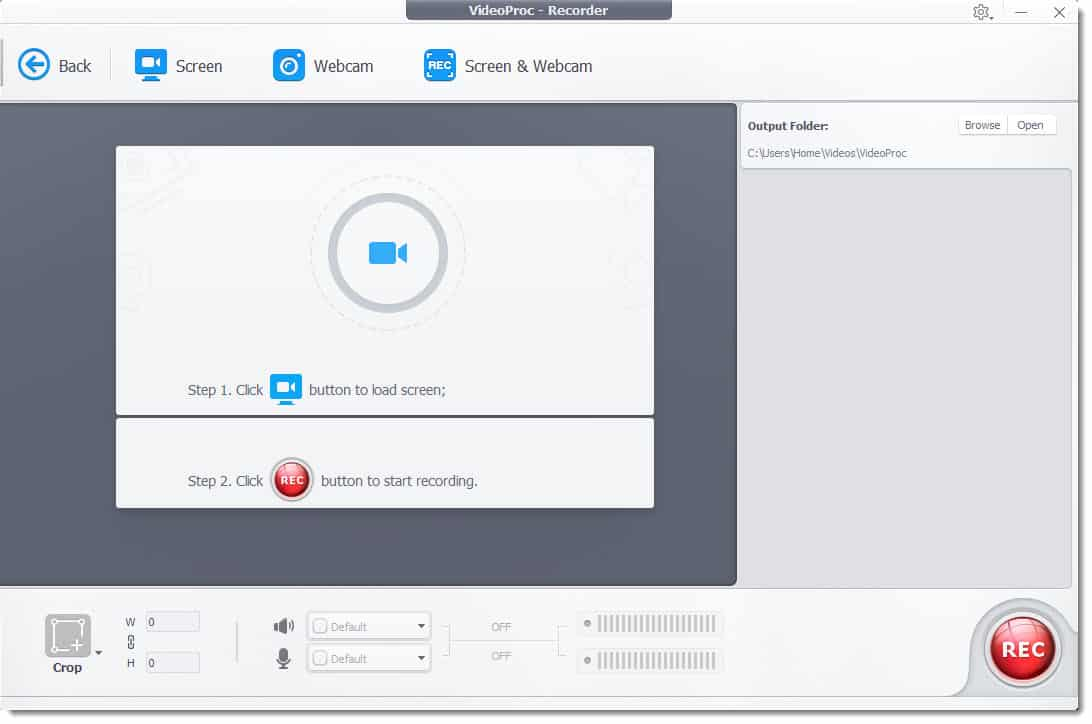 screen recording with videoproc