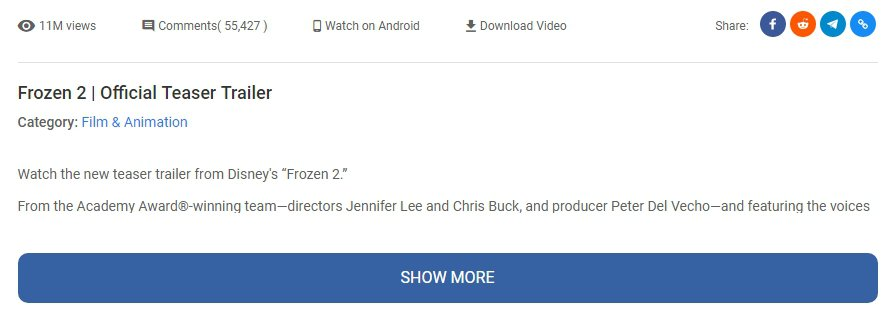 Vidpaw youtube embed features