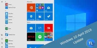Windows 10 april 2019 update features