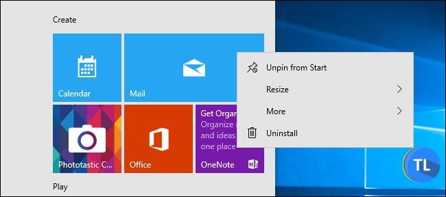 Uninstall default apps windows 10