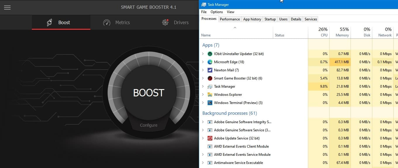 Before using boost in smart game booster