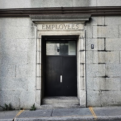 Employees door