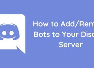 Add remove discord bots to your server